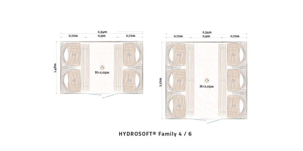 Hydrosoft Family Großkabine Grundriss