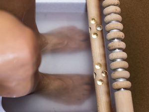 Hydrosoft Fußbadewanne und Massagestange